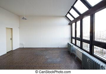 スタジオ, 窓, 絵, 空, 大きい