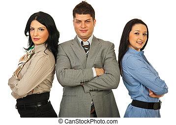 スタッフ, の, 3, ビジネス 人々