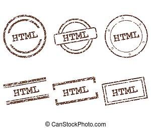 スタンプ, html