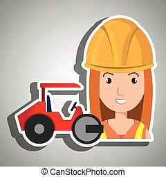 スチームローラー, 建築作業員