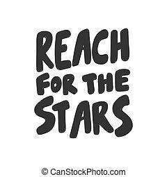 ステッカー, ベクトル, content., design., リーチ, stars., 媒体, 手, 引かれる, イラスト, 社会