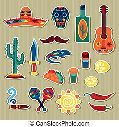 ステッカー, メキシコ人, style., コレクション, ネイティブ