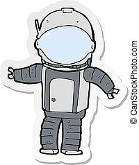 ステッカー, 宇宙飛行士, 漫画