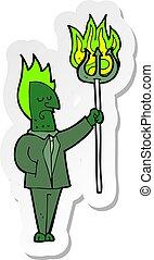 ステッカー, 悪魔, 漫画, 干し草用フォーク