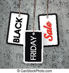 ステッカー, 黒, 3, 金曜日, セール, コンクリート, 価格