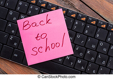 ステッカー, pc, メモ, 背中, 手書き, keyboard., 学校
