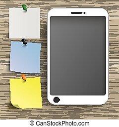 ステッカー, smartphone, 背景, 木