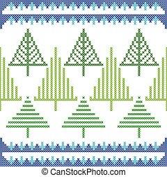 ステッチ, パターン, seamless, 手ざわり, 交差点, デザイン, 刺繍, クリスマス