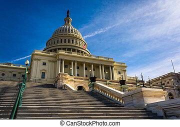 ステップ, へ, 国会議事堂, 中に, ワシントン, dc.