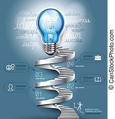 ステップ, ビジネス, 階段, thinking.