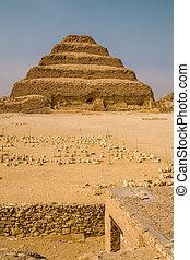 ステップ, ピラミッド, saqqara, djoser