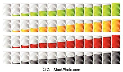 ステップ, 色, 円筒状である, 進歩, 表示器, 3d, もっと