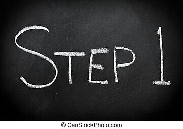 ステップ, 1(人・つ)