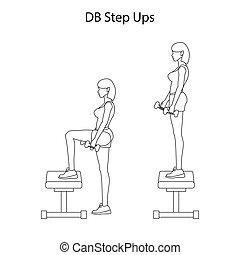 ステップ, db, ∥上げる∥, 練習, アウトライン