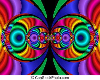 ステレオ, 色, fractal40a