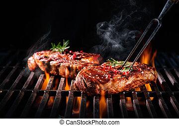 ステーキ, グリル, 牛肉