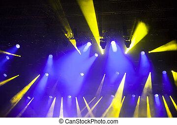 ステージライト, 上に, コンサート