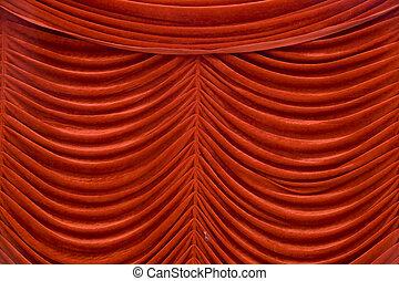 ステージ, カーテン, 赤