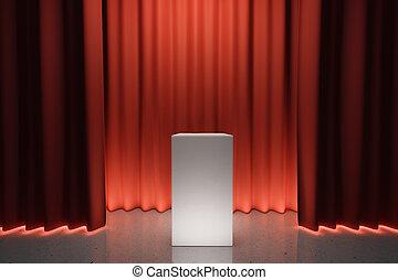 ステージ, トリビューン, 現場, 赤い白