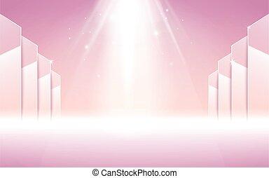 ステージ, ピンク, スポットライト