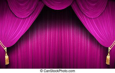 ステージ, ピンク, 劇場