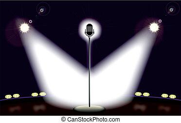 ステージ, マイクロフォン