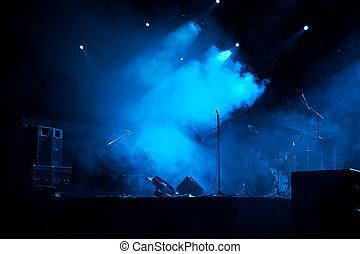 ステージ, 中に, ライト, 5