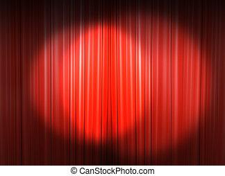 ステージ, 本, ライト