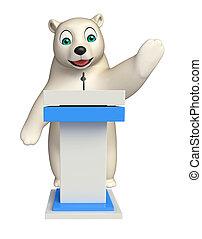 ステージ, 熊, 特徴, 北極, 漫画, スピーチ