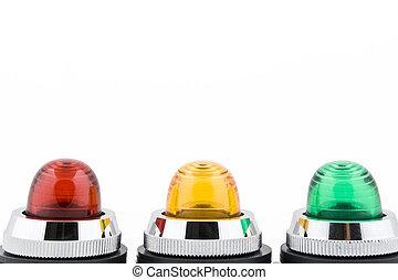 ステータス, ライト, 表示器, ボタン, 力