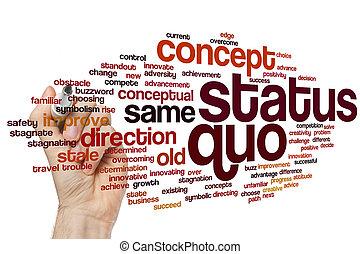 ステータス, 単語, quo, 雲