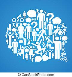 ステータス, 泡, ネットワーク, 社会