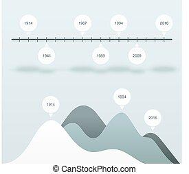 ステータス, 青, セット, ビジネス, charts., 分析, 統計量, infographics, データ, bar.