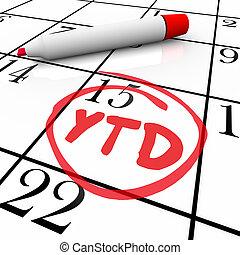 ステータス, 頭字語, 更新, 省略, 年, 日付, ytd, カレンダー