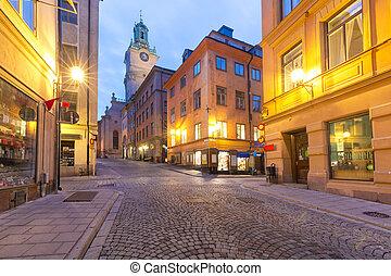 ストックホルム, storkyrkan, スウェーデン, 教会