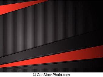 ストライプ, 技術, 対照, 背景, 黒い赤