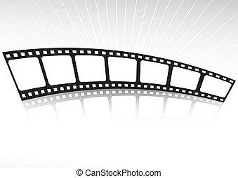 ストリップ, 反映された, フィルム