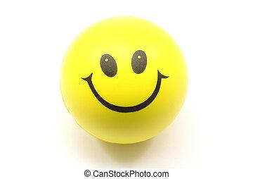 ストレスボール, 黄色, smiley 顔