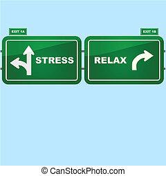 ストレス, そして, リラックスしなさい