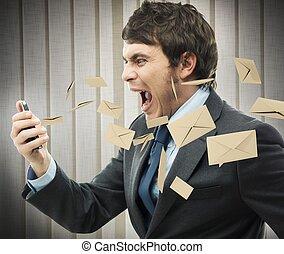 ストレス, 仕事, メール