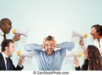 ストレス, 概念, 叫ぶこと, 同僚