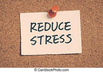 ストレス, 減らしなさい