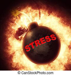ストレス, 爆弾, 爆発する