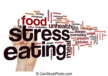 ストレス, 食べること, 単語, 雲