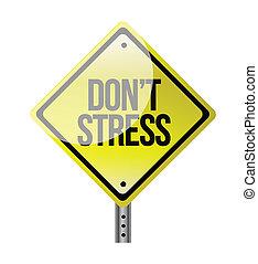 ストレス, dont, イラスト, 印, デザイン, 道