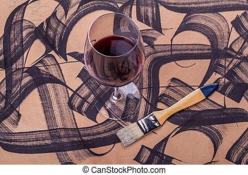 ストローク, ブラシ, ワイン