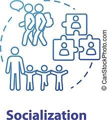 ストローク, 関係, 考え, group., icon., アウトライン, adaptation., 社会, ...