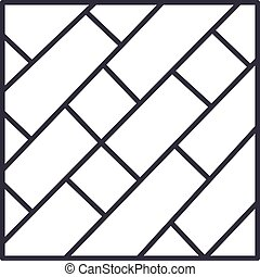 ストローク, editable, イラスト, 印, ベクトル, 寄せ木張りの床, アイコン, 線, 背景