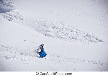 スノーボーダー, 落ちる