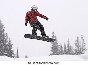 スノーボーダー, mid-air で